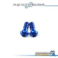 【Abu】 Duralumin Screw Set 6-6 【Morrum ZX】 SAPPHIRE BLUE