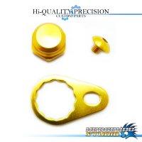 【SHIMANO】 Handle Lock Nut Set B-type 【M size】 GOLD
