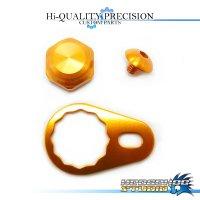 【DAIWA】 Handle Lock Nut Set B-type 【M size】 ORANGE