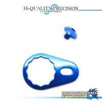 【DAIWA】 Handle Lock Retainer & Screw [M size] (No Nut) SAPPHIRE BLUE