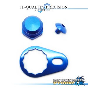 Photo1: 【DAIWA】 Handle Lock Nut Set B-type 【M size】 SAPPHIRE BLUE