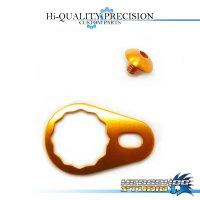 【DAIWA】 Handle Lock Retainer & Screw [M size] (No Nut) ORANGE