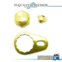 【SHIMANO】 Handle Lock Nut Set B-type 【M size】 CHAMPAGNE GOLD