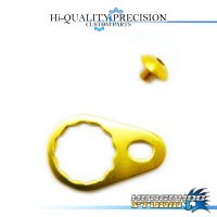 【DAIWA】 Handle Lock Retainer & Screw [M size] (No Nut) GOLD
