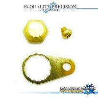 【Abu】 Handle Lock Nut Set 【M size】 CHAMPAGNE GOLD