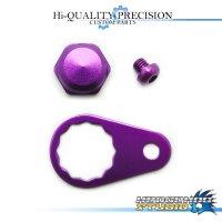 【Abu】 Handle Lock Nut Set 【M size】 ROYAL PURPLE