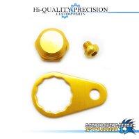 【Abu】 Handle Lock Nut Set 【M size】 GOLD