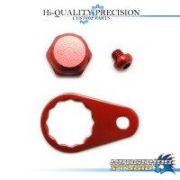 【Abu】 Handle Lock Nut Set 【M size】 RED