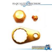 【Abu】 Handle Lock Nut Set 【M size】 ORANGE