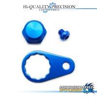 【Abu】 Handle Lock Nut Set 【M size】 SAPPHIRE BLUE