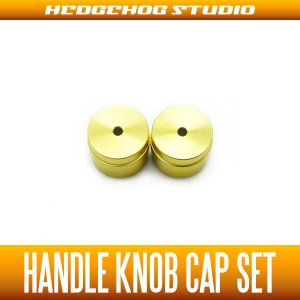 Photo1: 【DAIWA】 Handle Knob Cap 【S size】 CHAMPAGNE GOLD  - 2 pieces -