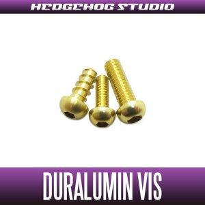 Photo1: 【Abu】 Duralumin Screw Set 5-6-8 【LTX】 CHAMPAGNE GOLD
