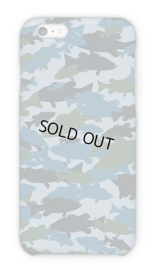 Photo1: 【Angler's Case】Cell-phone Case - BASS camouflage-large - Blue (built-to-order) (Product code: 2015101507)