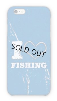 【Angler's Case】Cell-phone Case - I love Fishing - Blue (built-to-order) (Product code: 2015090806)