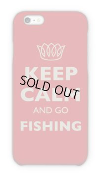 【Angler's Case】Cell-phone Case - KEEP CALM AND GO FISHING - (built-to-order) (Product code: 2015051802)