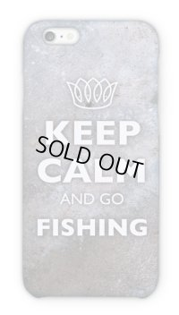 【Angler's Case】Cell-phone Case - KEEP CALM AND GO FISHING - Rust iron (built-to-order) (Product code: 2015051803)