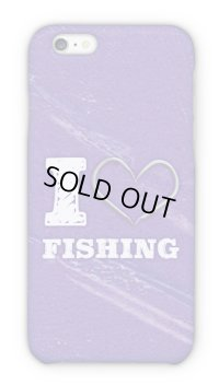 【Angler's Case】Cell-phone Case - I love Fishing - Purple (built-to-order) (Product code:2015090808)