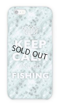 【Angler's Case】Cell-phone Case - KEEP CALM AND GO FISHING - CRISTAL(built-to-order) (Product code: 2015051802)