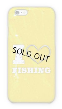 【Angler's Case】Cell-phone Case - I love Fishing - Yellow (built-to-order) (Product code: 2015090805)