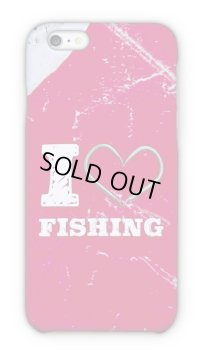【Angler's Case】Cell-phone Case - I love Fishing - Red (built-to-order) (Product code: 2015090804)