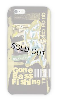 【Angler's Case】Cell-phone Case - BASS Gone Bass Fishing - Yellow (built-to-order) (Product code: 2015101208)