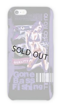 【Angler's Case】Cell-phone Case - BASS Gone Bass Fishing - Purple (built-to-order) (Product code: 2015101205)