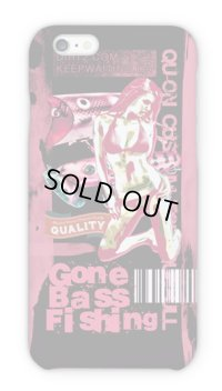 【Angler's Case】Cell-phone Case - BASS Gone Bass Fishing - Light Red (built-to-order) (Product code: 2015101207)
