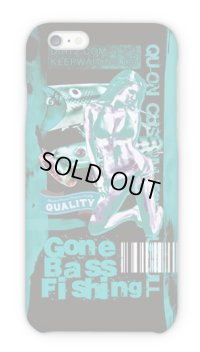 【Angler's Case】Cell-phone Case - BASS Gone Bass Fishing - Emerald Green (built-to-order) (Product code: 2015101206)