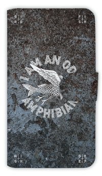 【Angler's Case】【Notebook Type】Cell-phone Case - I AM AM ODD AMPHIBIAN - (built-to-order) (Product code:diary2015110718)