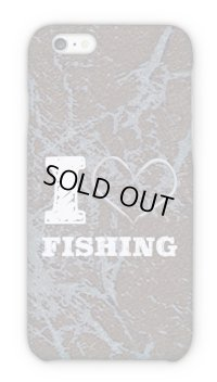 【Angler's Case】Cell-phone Case - I love Fishing - Brown (built-to-order) (Product code:2015090901)