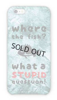 【Angler's Case】Cell-phone Case - where the fish? - (built-to-order) (Product code: 2015082501)