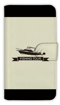 【Angler's Case】【Notebook Type】Cell-phone Case - Boat Fishing -  (built-to-order) (Product code:diary2015110703)