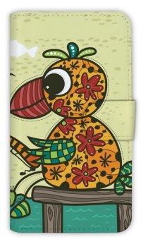 【Angler's Case】【Notebook Type】Cell-phone Case - Fishing of Parrot - (built-to-order) (Product code:diary2015110207)