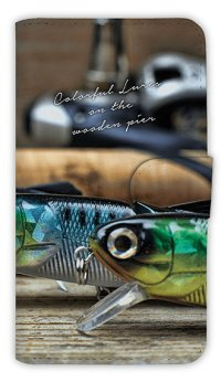 【Angler's Case】【Notebook Type】Cell-phone Case - Colorful Lures 1 -  (built-to-order) (Product code:diary2015110704)