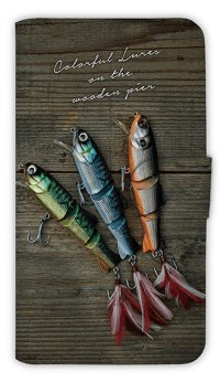 【Angler's Case】【Notebook Type】Cell-phone Case - Colorful Lures 2 -  (built-to-order) (Product code:diary2015110705)