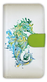 【Angler's Case】【Notebook Type】Cell-phone Case - Sea Horse - (built-to-order) (Product code:diary2015110508)