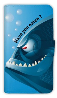 【Angler's Case】【Notebook Type】Cell-phone Case - Have you eaten? -  (built-to-order) (Product code:diary2015110713)
