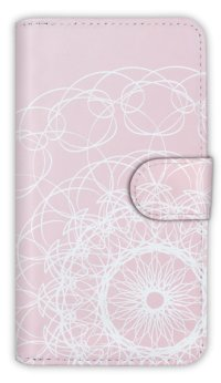 【Angler's Case】【Notebook Type】Cell-phone Case - Lace - Pink (built-to-order) (Product code:diary2015102948)