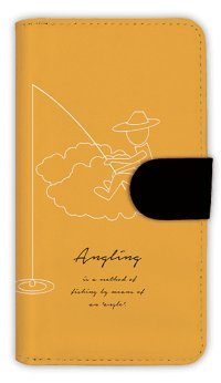 【Angler's Case】【Notebook Type】Cell-phone Case - Simple Fishing - (built-to-order) (Product code:diary2015110414)