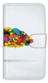 【Angler's Case】【Notebook Type】Cell-phone Case - Colorful fishes - (built-to-order) (Product code:diary2015103133)