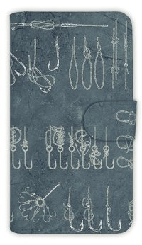 【Angler's Case】【Notebook Type】Cell-phone Case - Knot of Lines -  (built-to-order) (Product code:diary2015110707)