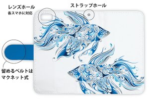 Photo3: 【Angler's Case】【Notebook Type】Cell-phone Case - Tropical - (built-to-order) (Product code:diary2015110507)