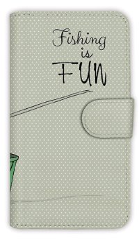 【Angler's Case】【Notebook Type】Cell-phone Case - Fishing is FUN - (built-to-order) (Product code:diary2015110403)