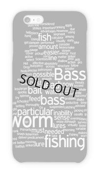 【Angler's Case】Text Design of Bass Fishing (built-to-order) (Product code: 2015110706)