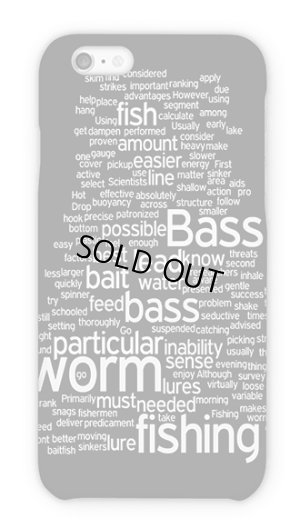 Photo1: 【Angler's Case】Text Design of Bass Fishing (built-to-order) (Product code: 2015110706)