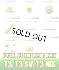 "【DAIWA】 T3 SV,MX,BALLISTIC Dress-up Custom ""Full Complete Kit"" GUNMETAL×GOLD"