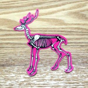Photo1: 【B-SIDE LABEL STICKER】 Deer (Bones) (BSL018)