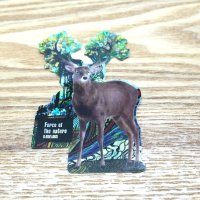 【B-SIDE LABEL STICKER】 Deer (Nature) (BSL017)