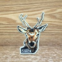 【B-SIDE LABEL STICKER】 Deer (Head) (BSL016)
