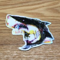 【B-SIDE LABEL STICKER】 Shark (rough drawing) (BSL012)